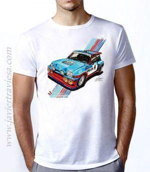 Camiseta unisex RENAULT 5 MAXITURBO GRUPO B JEAN RAGNOTTI