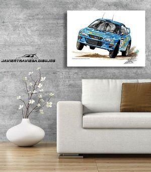 POSTER SUBARU IMPREZA WRC