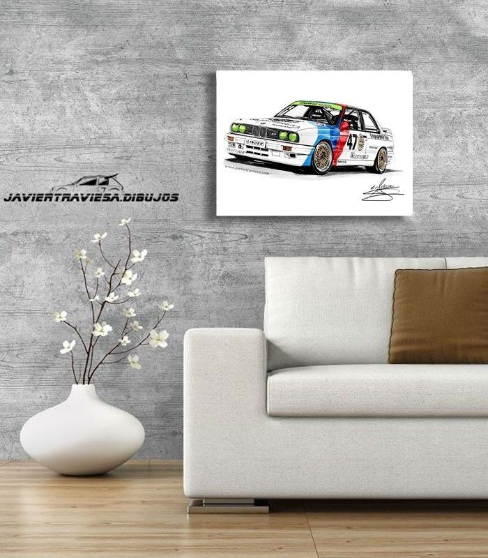POSTER BMW M3 E30 DTM