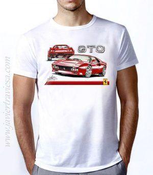 CAMISETA CON DIBUJO DEL FERRARI 288 GTO