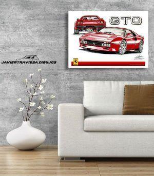 POSTER FERRARI 288 GTO