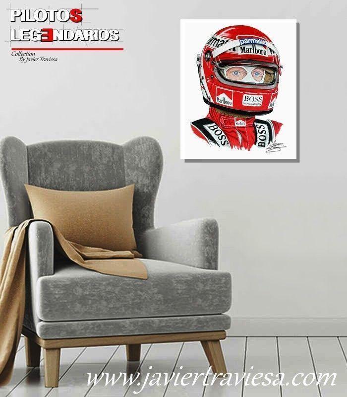 Poster dibujo Niki Lauda